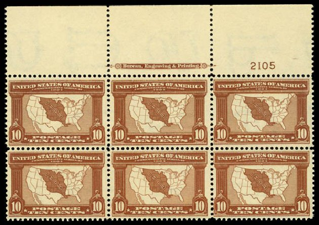 Prices of US Stamp Scott Catalog #327: 1904 10c Louisiana Purchase Exposition. Daniel Kelleher Auctions, May 2014, Sale 653, Lot 2407