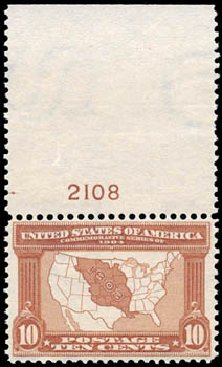 Value of US Stamps Scott Catalogue 327 - 1904 10c Louisiana Purchase Exposition. Schuyler J. Rumsey Philatelic Auctions, Apr 2015, Sale 60, Lot 2788