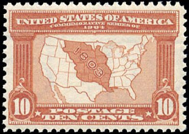 US Stamp Prices Scott Catalog #327 - 1904 10c Louisiana Purchase Exposition. Schuyler J. Rumsey Philatelic Auctions, Apr 2015, Sale 60, Lot 2329