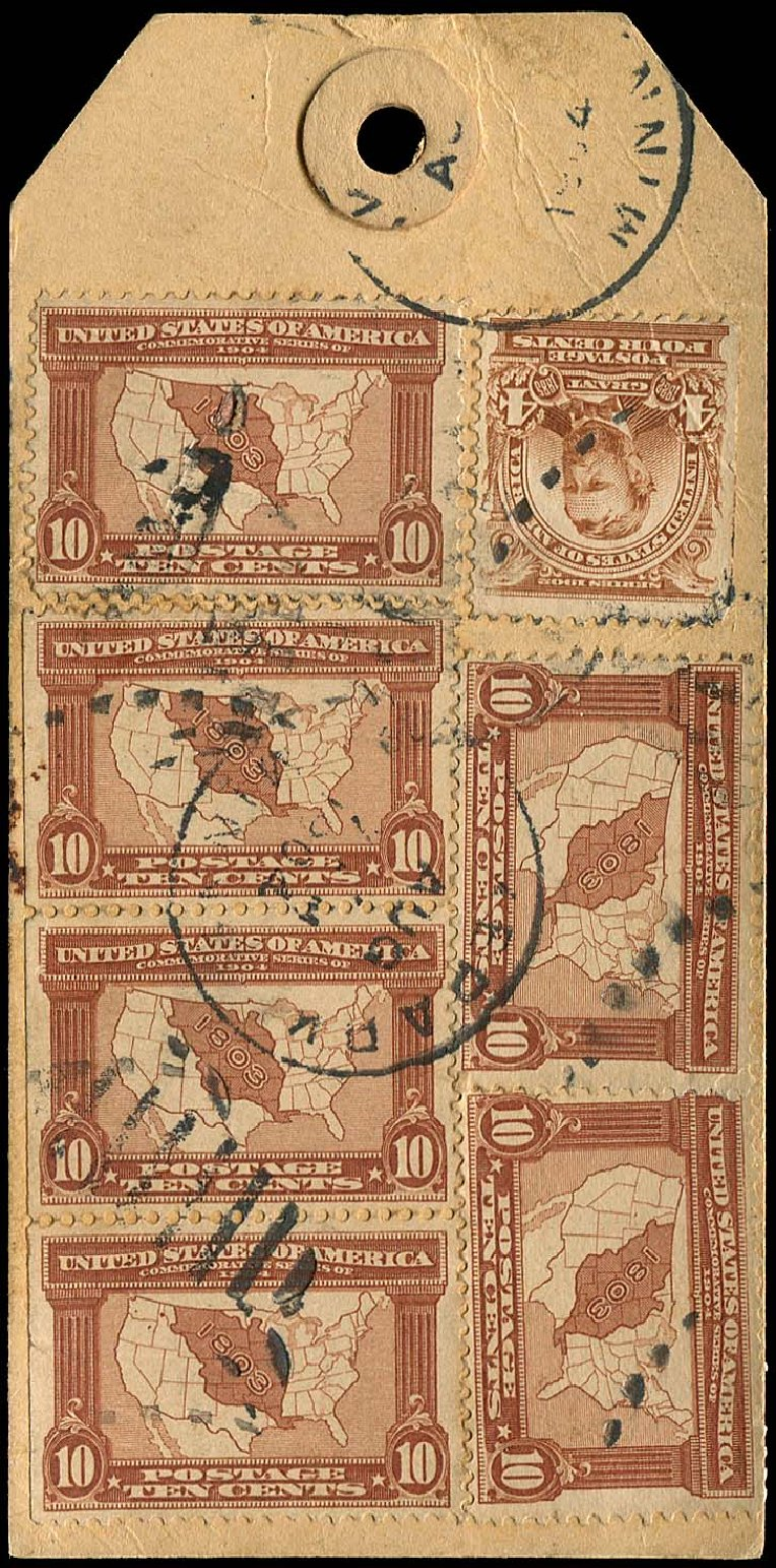 Price of US Stamps Scott Cat. 327 - 1904 10c Louisiana Purchase Exposition. Regency-Superior, Nov 2014, Sale 108, Lot 701