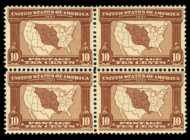 Prices of US Stamp Scott 327 - 10c 1904 Louisiana Purchase Exposition. Cherrystone Auctions, Jan 2015, Sale 201501, Lot 176