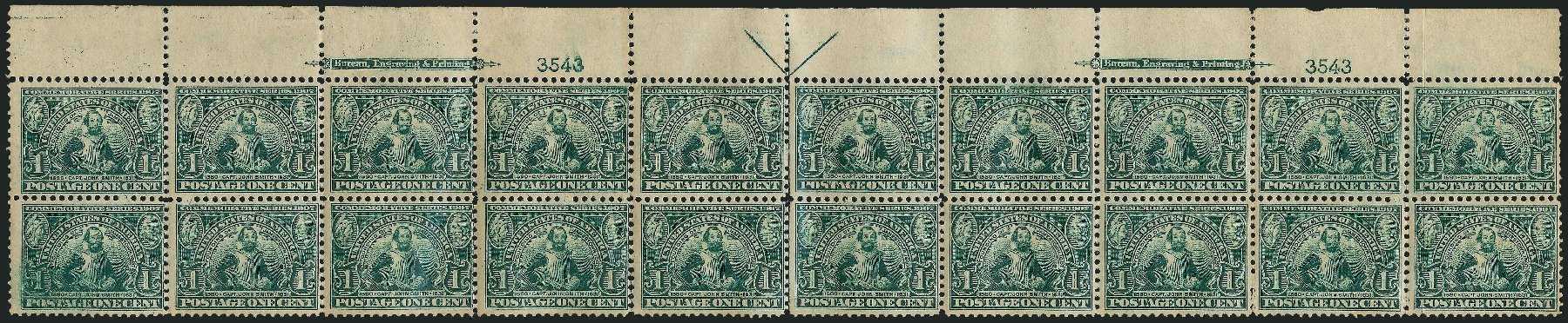 Prices of US Stamps Scott Catalog # 328: 1c 1907 Jameston Exposition. Robert Siegel Auction Galleries, Feb 2015, Sale 1093, Lot 74