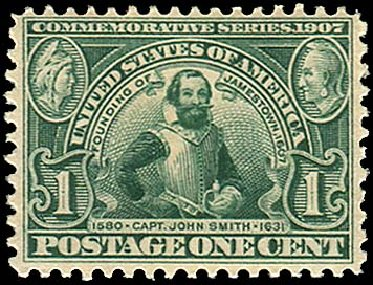 Price of US Stamp Scott Cat. #328: 1c 1907 Jameston Exposition. Regency-Superior, Jan 2015, Sale 109, Lot 1115