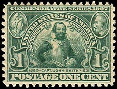 Price of US Stamp Scott Cat. #328: 1c 1907 Jameston Exposition. Regency-Superior, Jan 2015, Sale 109, Lot 1115