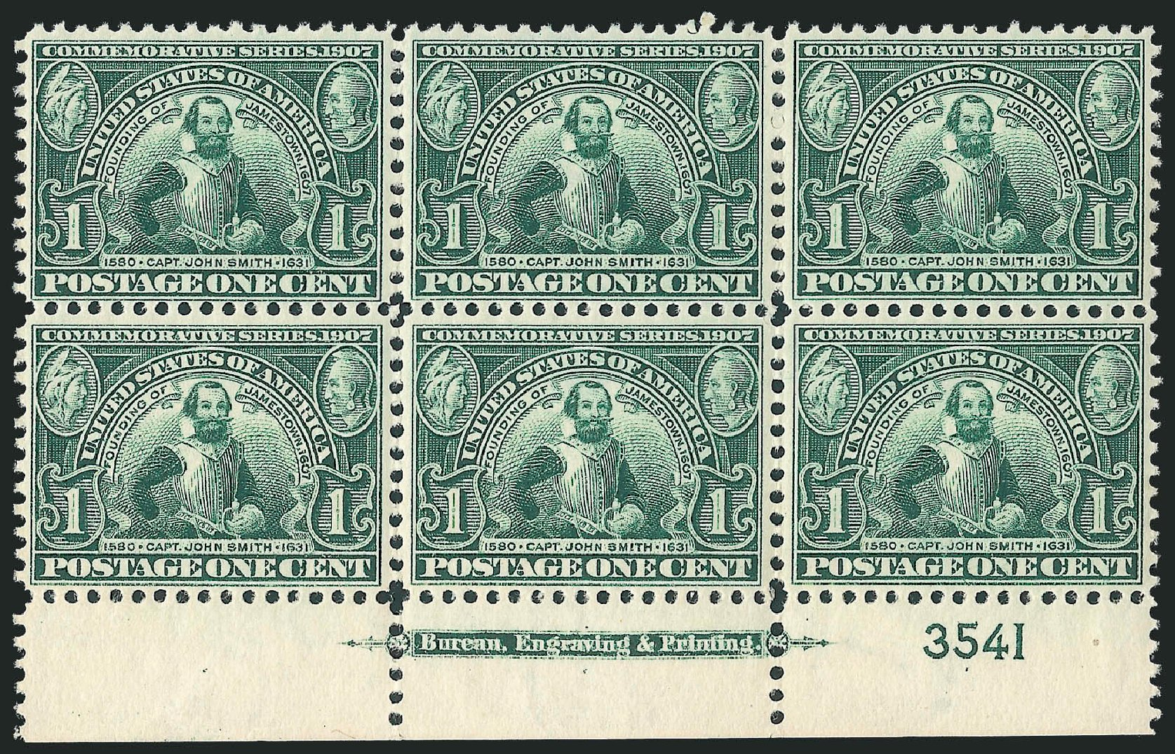 US Stamps Price Scott Catalog # 328: 1c 1907 Jameston Exposition. Robert Siegel Auction Galleries, Oct 2011, Sale 1014, Lot 1763