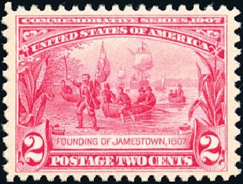 Cost of US Stamp Scott Catalog # 329 - 1907 2c Jameston Exposition. Schuyler J. Rumsey Philatelic Auctions, Apr 2015, Sale 60, Lot 2330