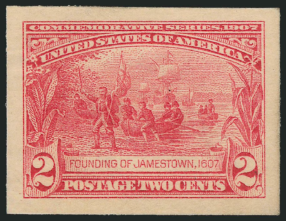 Cost of US Stamps Scott #329 - 2c 1907 Jameston Exposition. Robert Siegel Auction Galleries, Oct 2014, Sale 1082, Lot 170