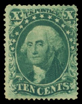 Prices of US Stamps Scott Catalog # 33: 10c 1857 Washington. Daniel Kelleher Auctions, Aug 2015, Sale 672, Lot 2207