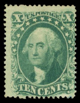 Costs of US Stamp Scott Catalog #33: 10c 1857 Washington. Daniel Kelleher Auctions, May 2015, Sale 669, Lot 2462
