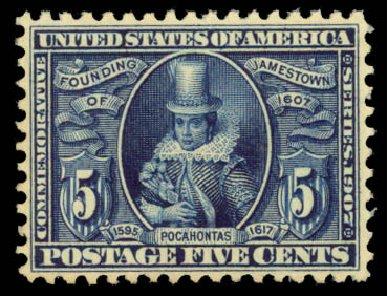 Prices of US Stamps Scott Catalogue # 330: 5c 1907 Jameston Exposition. Daniel Kelleher Auctions, Aug 2015, Sale 672, Lot 2644