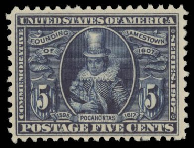 Value of US Stamp Scott Catalogue #330: 5c 1907 Jameston Exposition. Daniel Kelleher Auctions, Aug 2015, Sale 672, Lot 2645