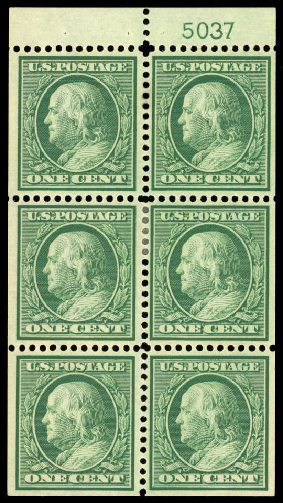 Prices of US Stamp Scott Catalogue 331: 1c 1908 Franklin. Daniel Kelleher Auctions, Jan 2015, Sale 663, Lot 1678