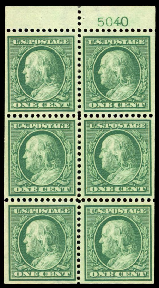US Stamp Values Scott #331: 1908 1c Franklin. Daniel Kelleher Auctions, Jan 2015, Sale 663, Lot 1679