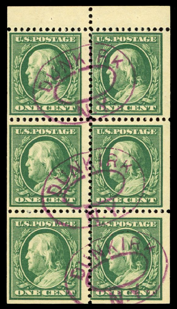 Cost of US Stamp Scott Catalog #331: 1908 1c Franklin. Daniel Kelleher Auctions, Dec 2013, Sale 640, Lot 310