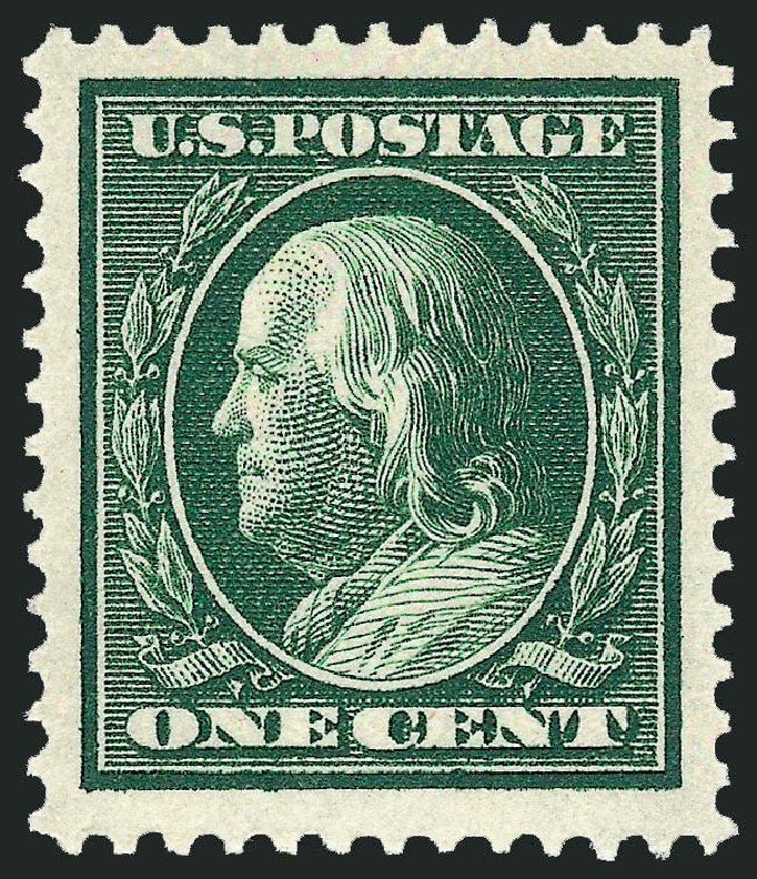 US Stamps Value Scott Cat. #331 - 1c 1908 Franklin. Robert Siegel Auction Galleries, Dec 2013, Sale 1062, Lot 501