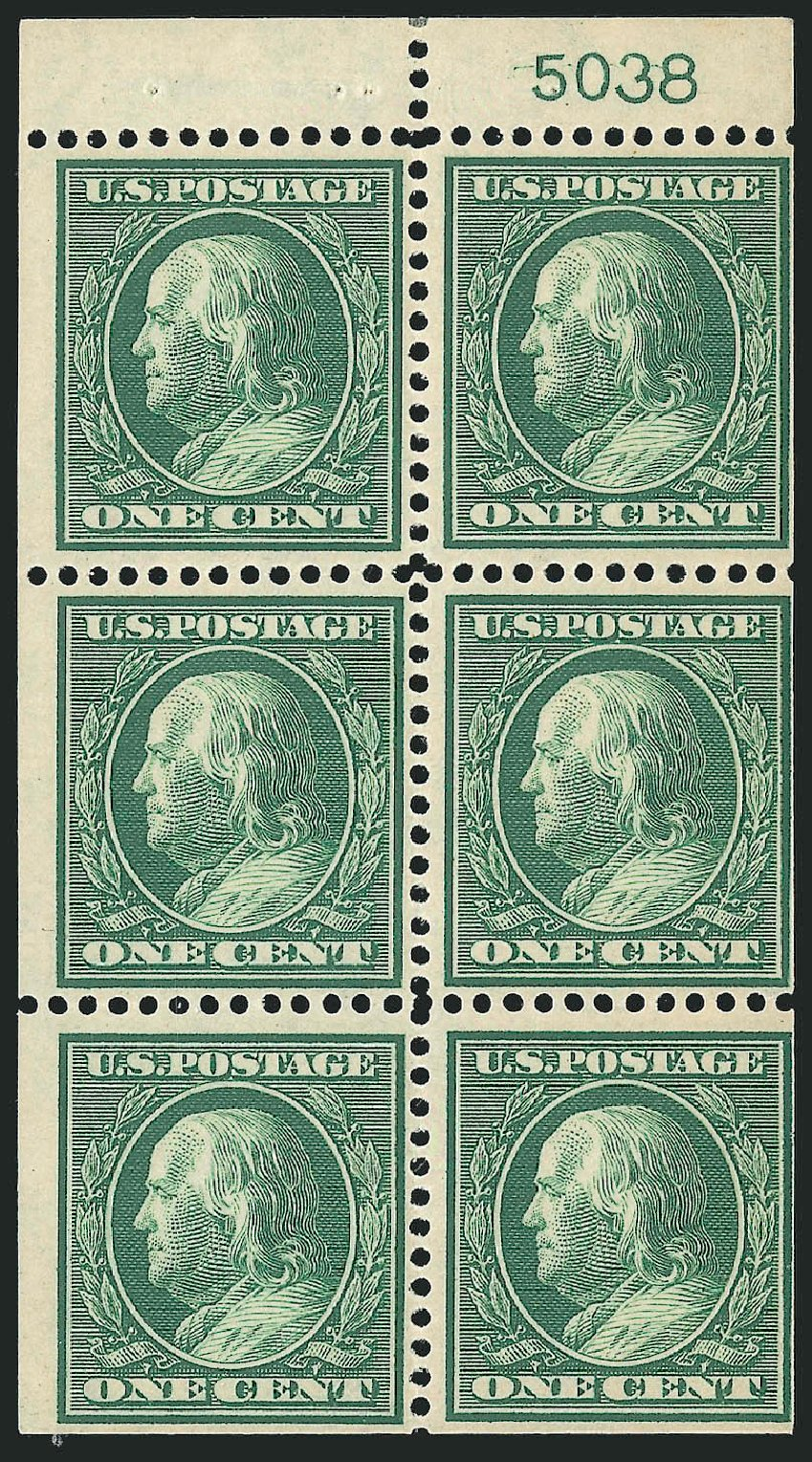 US Stamp Price Scott Catalog # 331: 1908 1c Franklin. Robert Siegel Auction Galleries, Sep 2014, Sale 1078, Lot 464