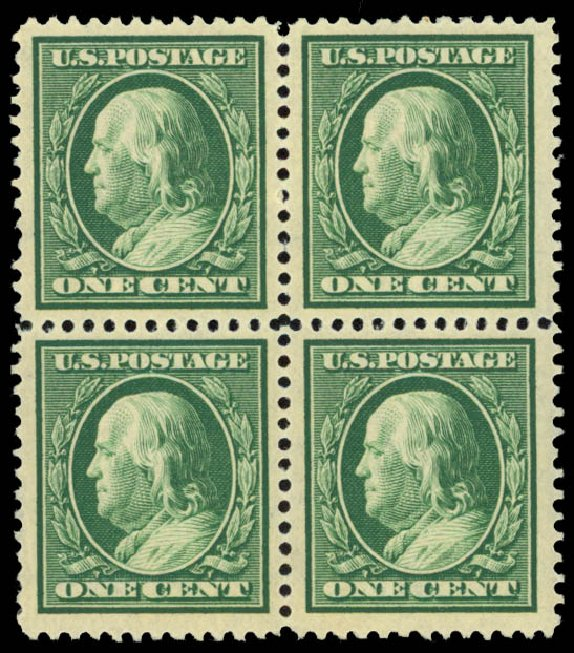 Cost of US Stamps Scott Catalogue # 331: 1908 1c Franklin. Daniel Kelleher Auctions, May 2015, Sale 669, Lot 2882