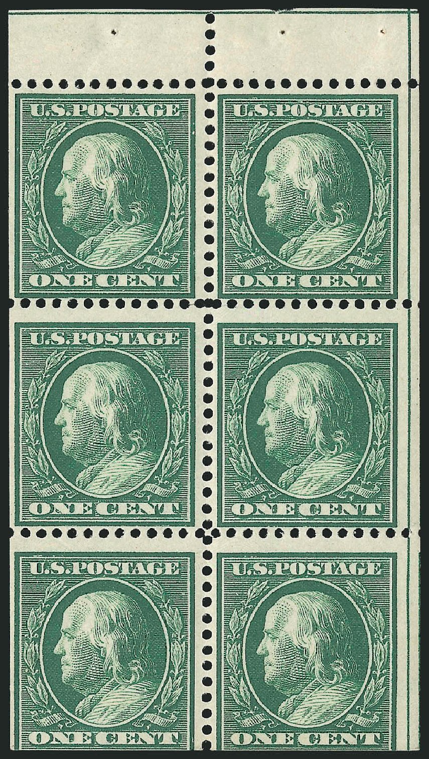 US Stamp Values Scott Catalogue 331 - 1c 1908 Franklin. Robert Siegel Auction Galleries, Sep 2014, Sale 1078, Lot 466