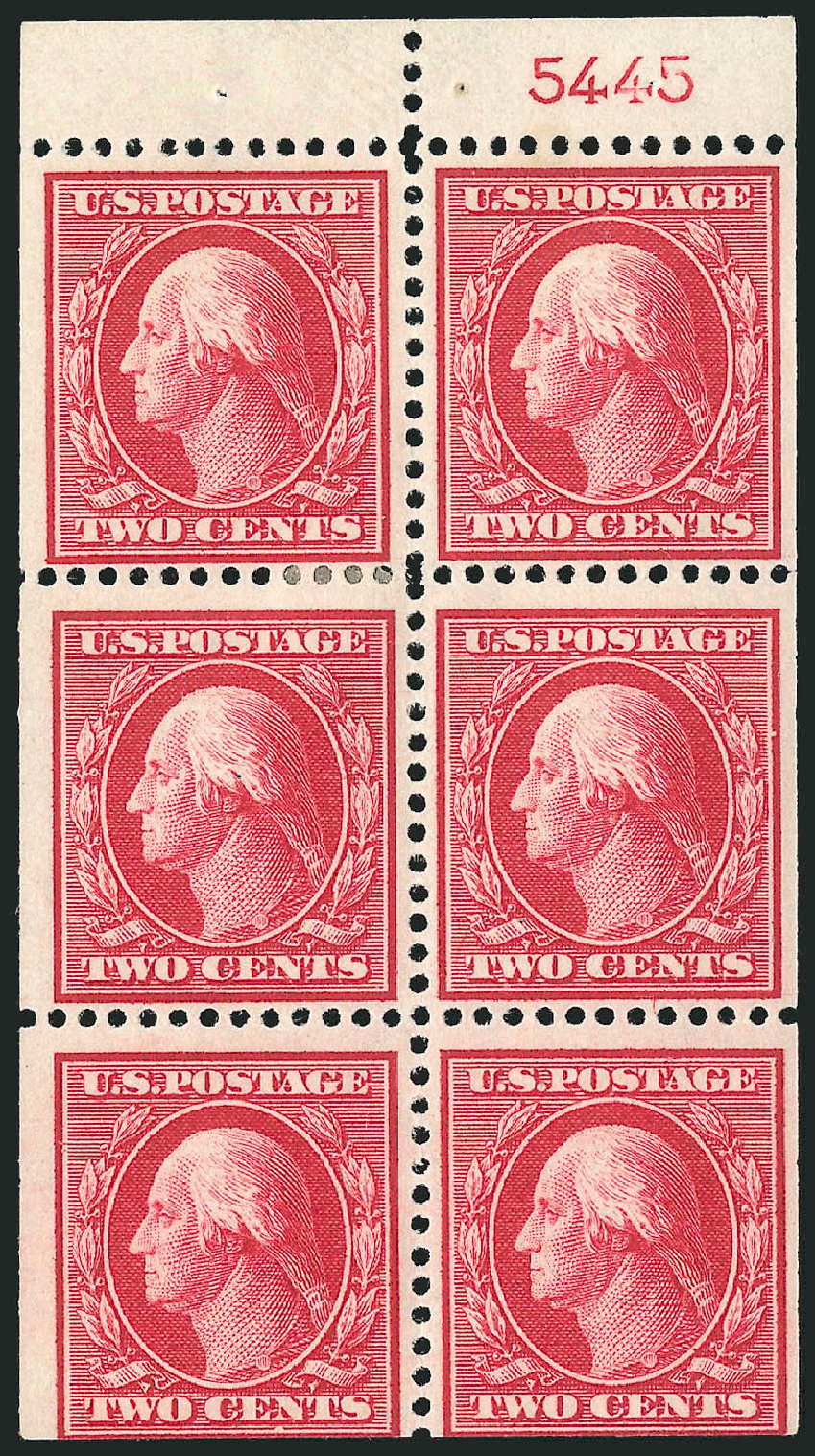 Values of US Stamp Scott 332 - 2c 1908 Washington. Robert Siegel Auction Galleries, Sep 2014, Sale 1078, Lot 467