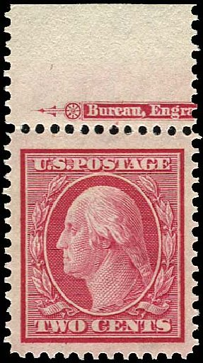 Cost of US Stamp Scott # 332 - 2c 1908 Washington. Regency-Superior, Jan 2015, Sale 109, Lot 1122