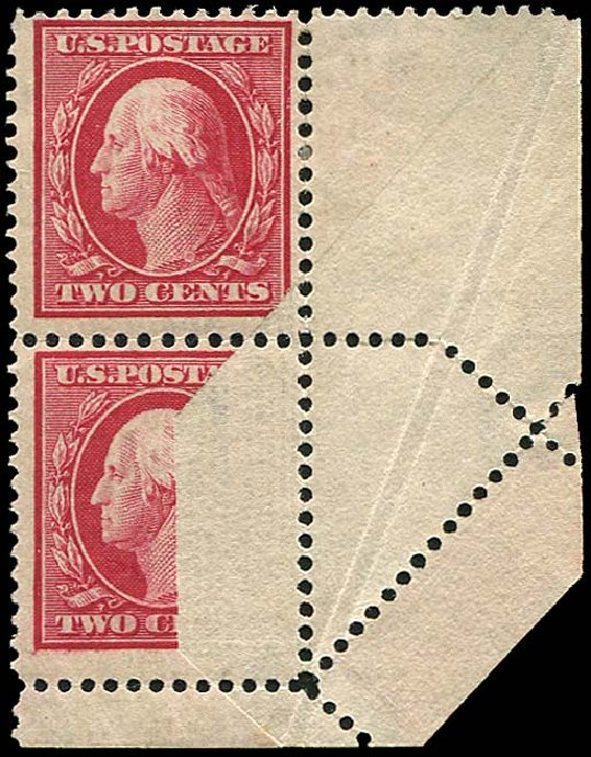 US Stamp Prices Scott Cat. # 332: 1908 2c Washington. Regency-Superior, Aug 2015, Sale 112, Lot 1543
