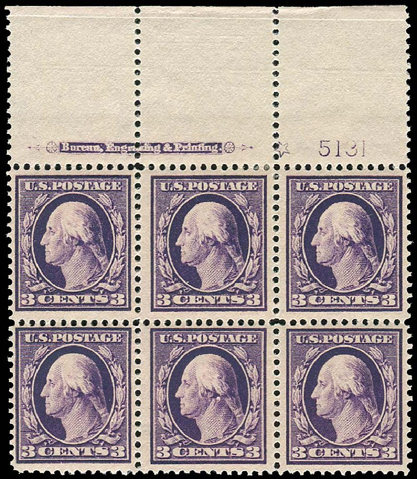 US Stamps Value Scott Catalog # 333 - 1908 3c Washington. Regency-Superior, Nov 2014, Sale 108, Lot 1299