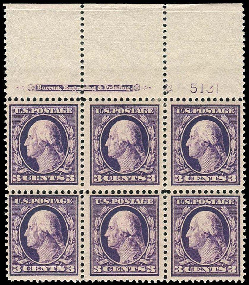 US Stamps Value Scott Catalog # 333 - 1908 3c Washington. Regency-Superior, Nov 2014, Sale 108, Lot 1299