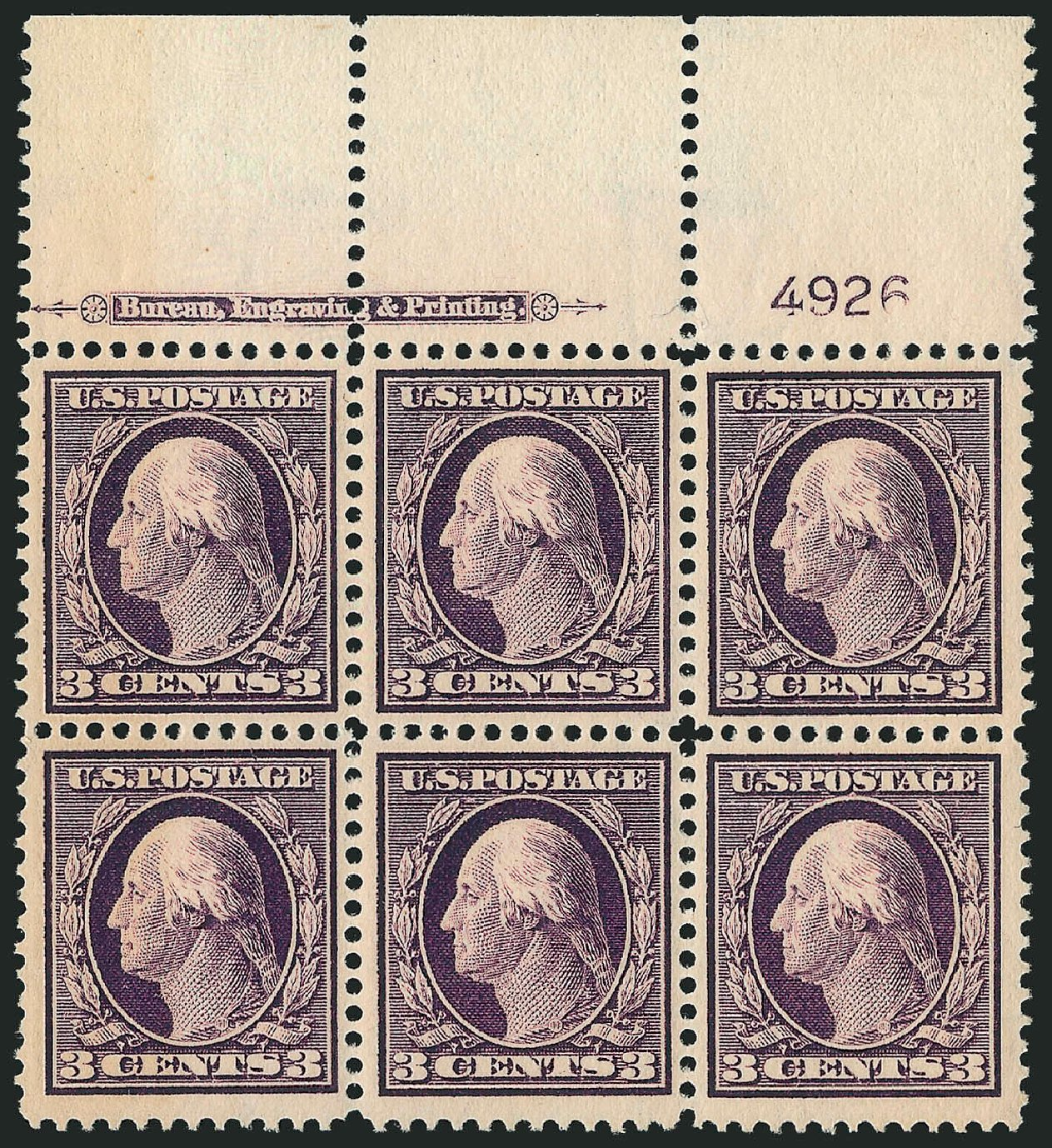 Value of US Stamp Scott Cat. # 333 - 1908 3c Washington. Robert Siegel Auction Galleries, Sep 2014, Sale 1078, Lot 469