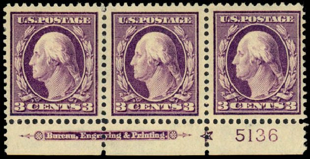 Cost of US Stamps Scott Catalog 333 - 3c 1908 Washington. Daniel Kelleher Auctions, Dec 2013, Sale 640, Lot 315