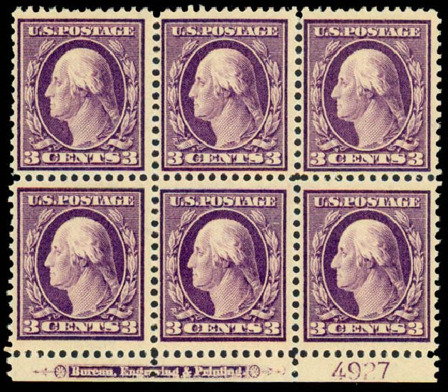 US Stamp Prices Scott Catalogue # 333 - 3c 1908 Washington. Daniel Kelleher Auctions, Sep 2013, Sale 639, Lot 3442