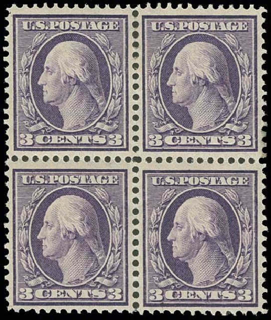 Prices of US Stamps Scott Cat. # 333 - 1908 3c Washington. H.R. Harmer, Jun 2013, Sale 3003, Lot 1236