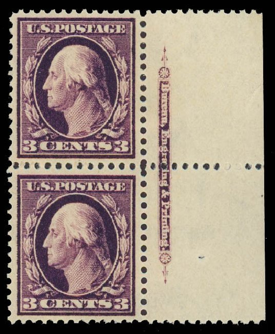 Costs of US Stamps Scott Catalog # 333 - 3c 1908 Washington. Daniel Kelleher Auctions, Jun 2012, Sale 630, Lot 1746