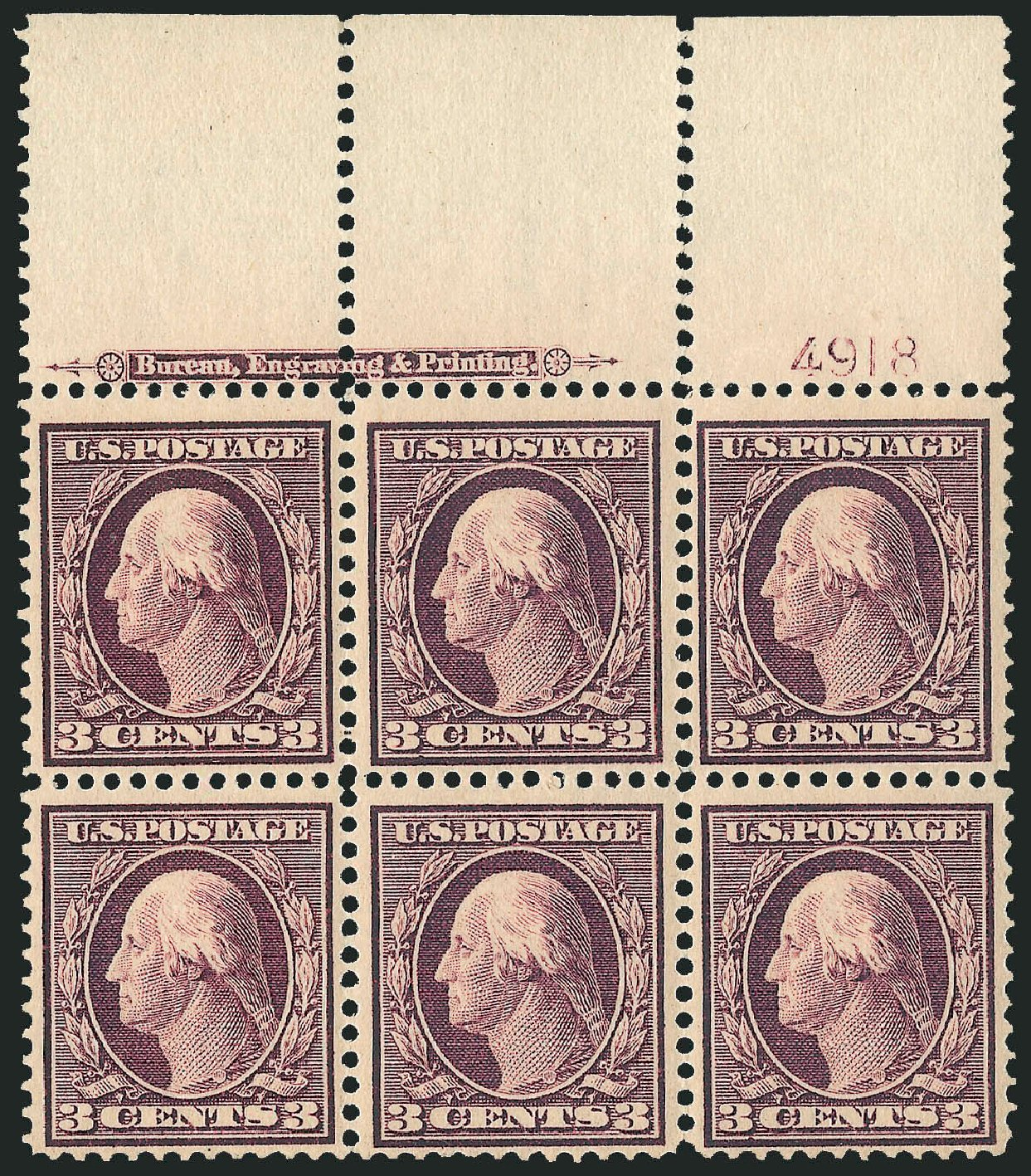 Cost of US Stamps Scott Cat. 333: 3c 1908 Washington. Robert Siegel Auction Galleries, Dec 2014, Sale 1090, Lot 1446