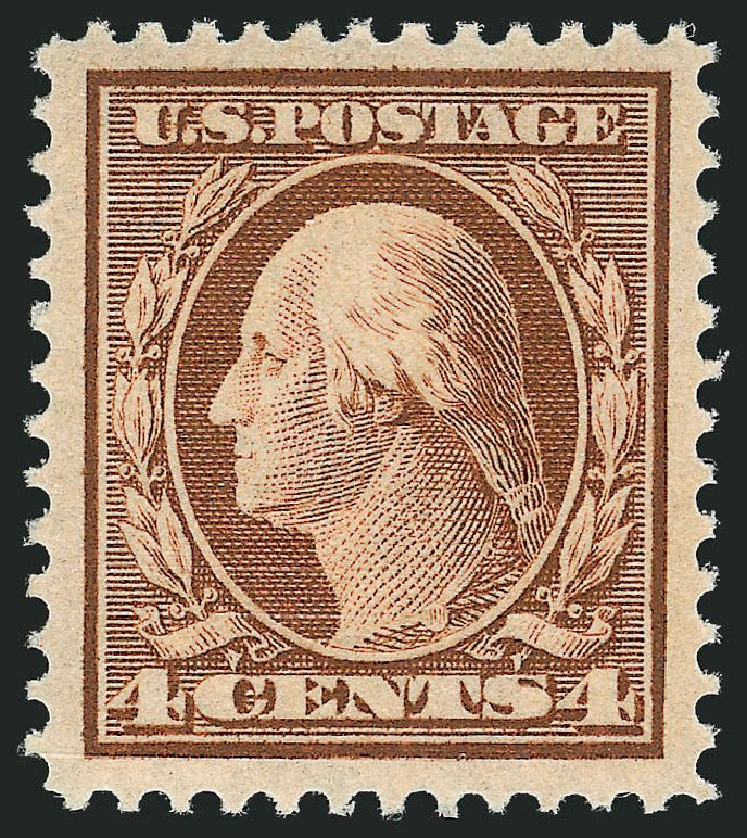 Values of US Stamp Scott Catalogue #334 - 4c 1908 Washington. Robert Siegel Auction Galleries, Dec 2014, Sale 1090, Lot 1447