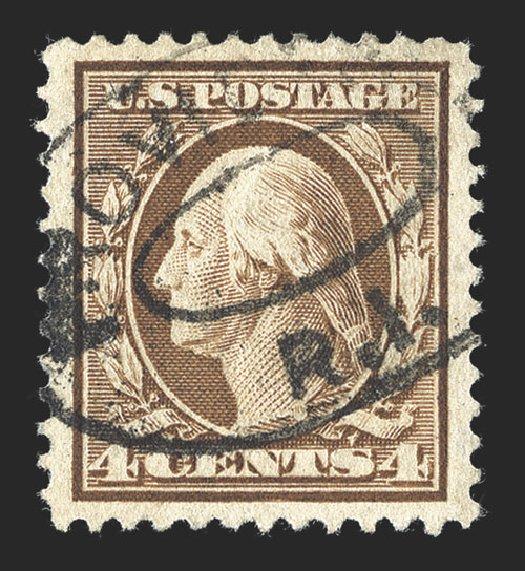 Cost of US Stamps Scott 334 - 4c 1908 Washington. Spink Shreves Galleries, Jul 2012, Sale 140, Lot 225