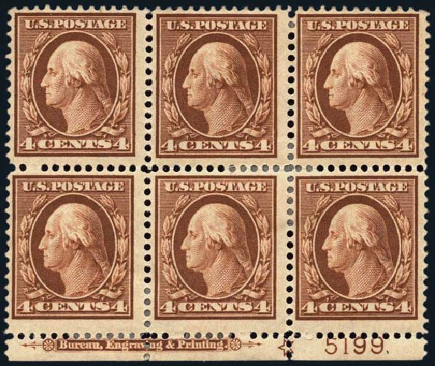 US Stamp Prices Scott Catalog # 334: 4c 1908 Washington. Harmer-Schau Auction Galleries, Oct 2013, Sale 99, Lot 173