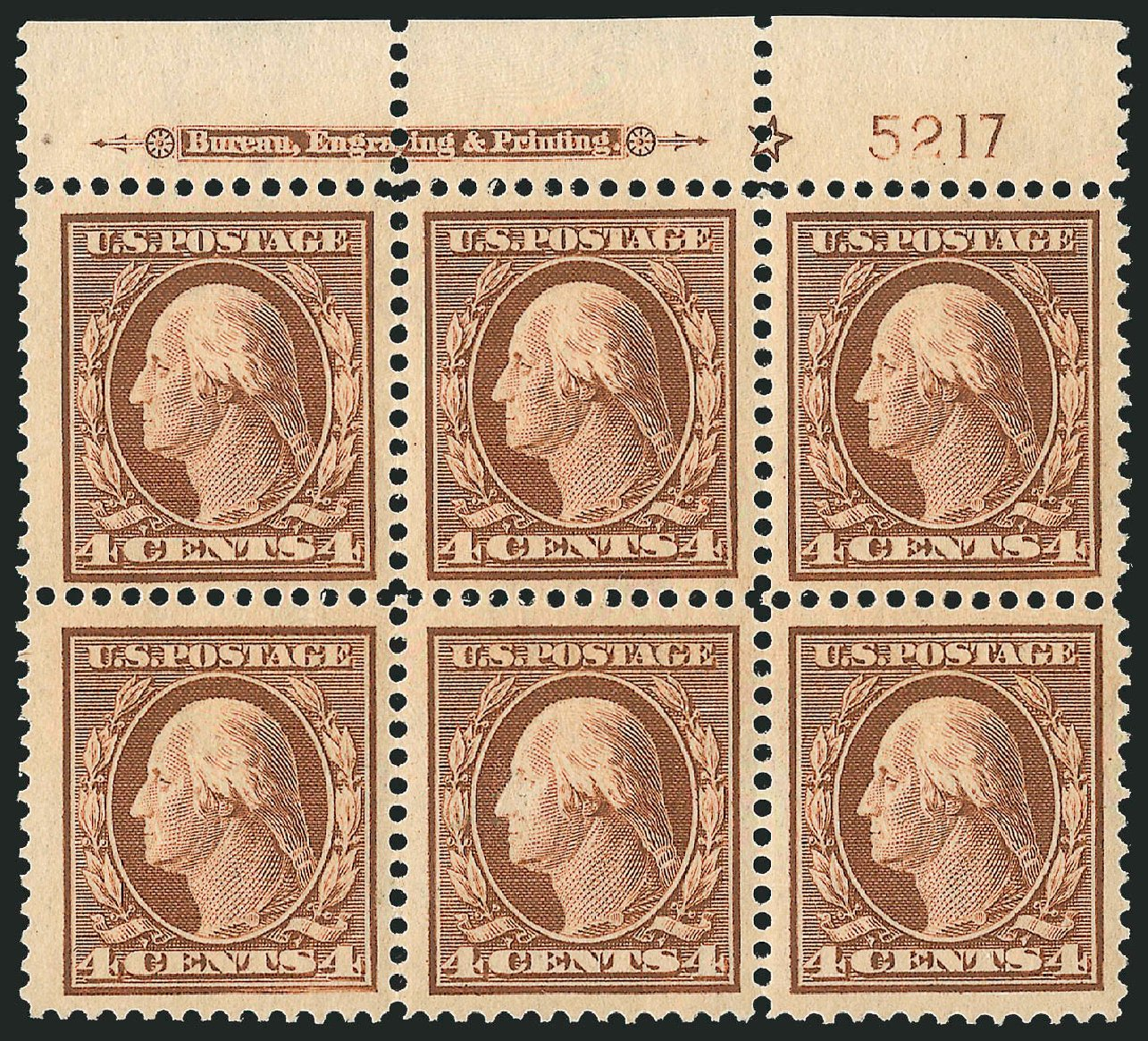 Cost of US Stamps Scott # 334: 4c 1908 Washington. Robert Siegel Auction Galleries, Feb 2015, Sale 1093, Lot 86