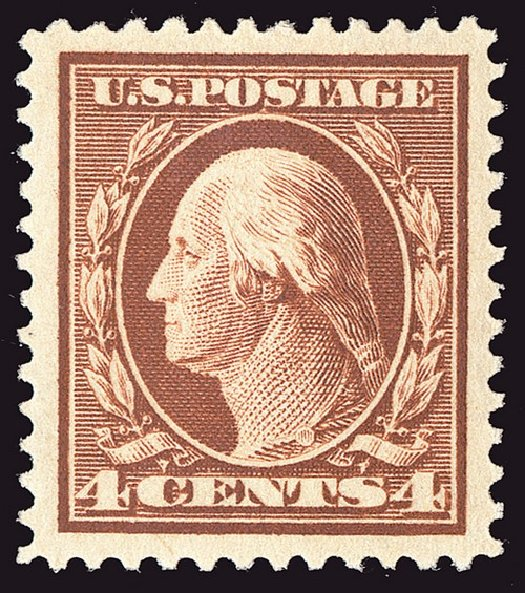 Prices of US Stamps Scott #334 - 1908 4c Washington. Spink Shreves Galleries, Jan 2014, Sale 146, Lot 366