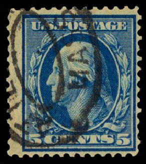 Costs of US Stamp Scott Catalog # 335: 5c 1908 Washington. Daniel Kelleher Auctions, May 2014, Sale 652, Lot 500