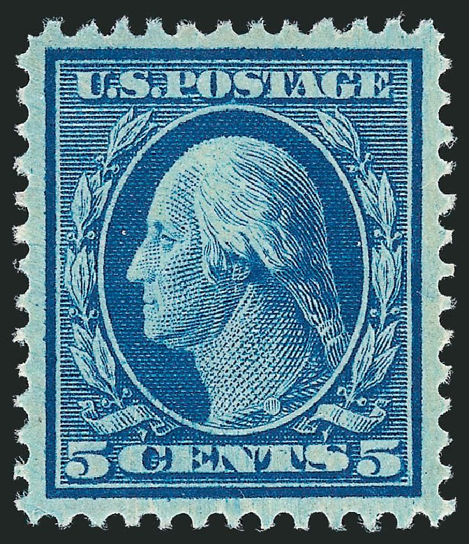 Price of US Stamp Scott Catalog # 335 - 1908 5c Washington. Robert Siegel Auction Galleries, Nov 2012, Sale 1034, Lot 320