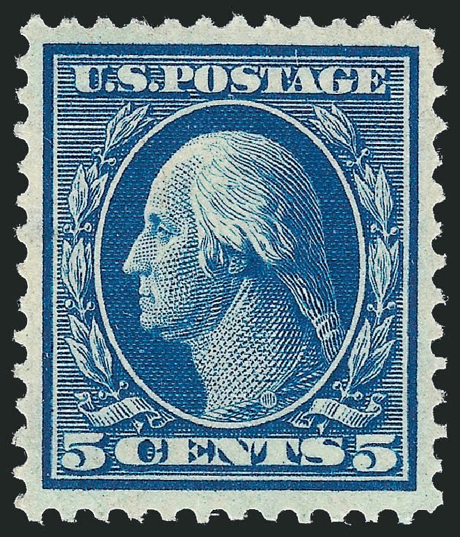 Cost of US Stamp Scott Cat. 335 - 1908 5c Washington. Robert Siegel Auction Galleries, Nov 2013, Sale 1061, Lot 3854