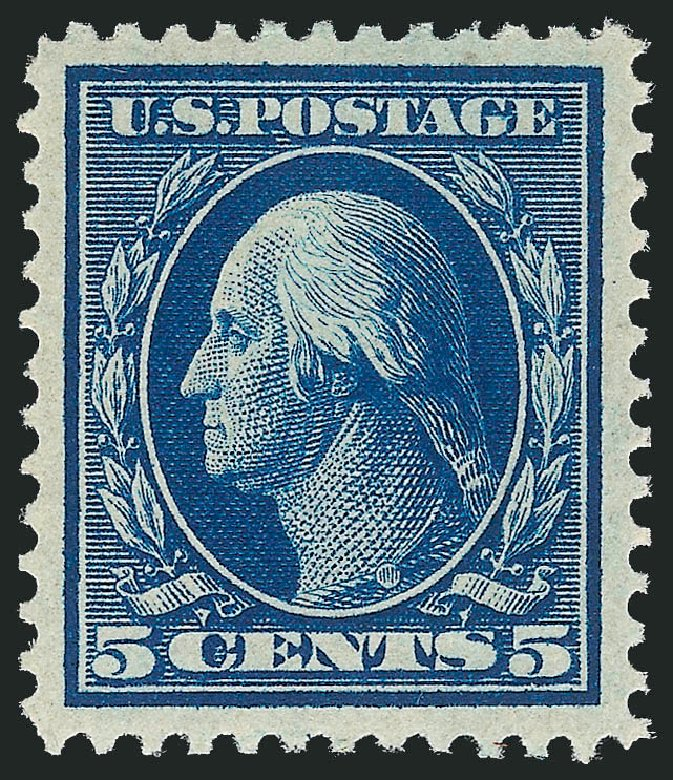 Price of US Stamp Scott Cat. #335 - 5c 1908 Washington. Robert Siegel Auction Galleries, Dec 2013, Sale 1062, Lot 505