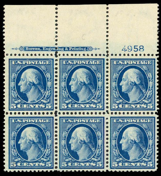 Costs of US Stamps Scott Catalogue #335: 1908 5c Washington. Daniel Kelleher Auctions, Sep 2013, Sale 639, Lot 3443