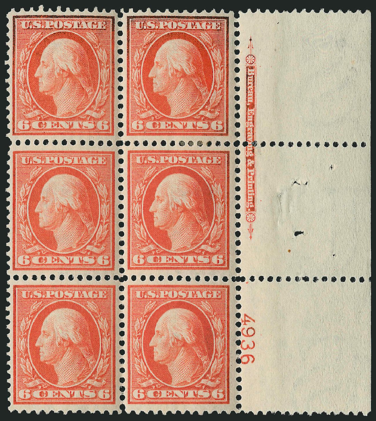 US Stamps Price Scott Catalogue # 336: 6c 1909 Washington. Robert Siegel Auction Galleries, Feb 2015, Sale 1093, Lot 87