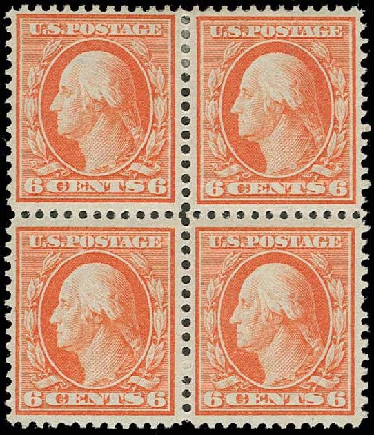 Value of US Stamps Scott Cat. 336: 1909 6c Washington. H.R. Harmer, Jun 2013, Sale 3003, Lot 1238