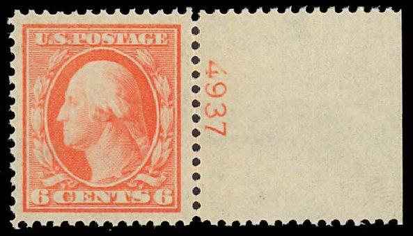 Value of US Stamps Scott Catalog 336 - 6c 1909 Washington. Daniel Kelleher Auctions, Jun 2012, Sale 630, Lot 1748