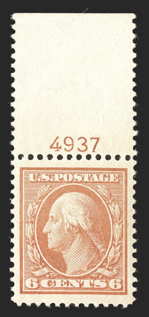 Cost of US Stamp Scott Cat. 336: 1909 6c Washington. Spink Shreves Galleries, Jul 2012, Sale 140, Lot 228