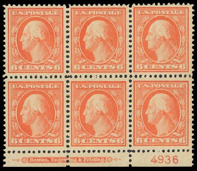 US Stamp Values Scott Catalogue #336 - 1909 6c Washington. Daniel Kelleher Auctions, Jun 2012, Sale 630, Lot 1749