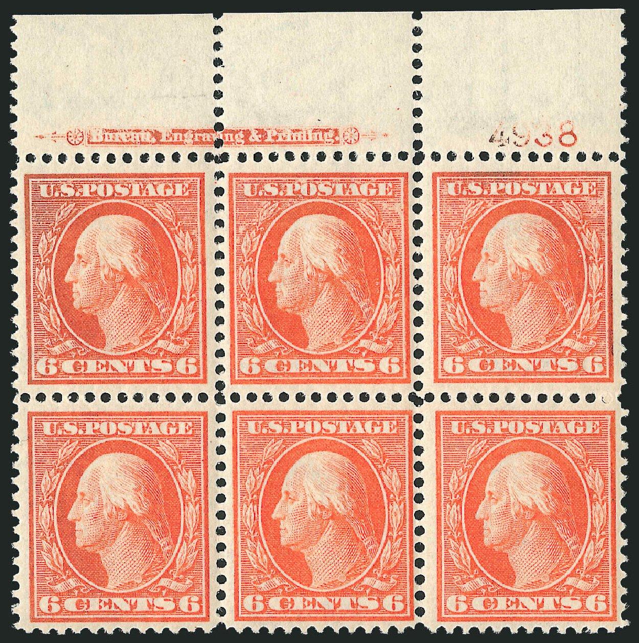 US Stamps Values Scott Catalog #336: 6c 1909 Washington. Robert Siegel Auction Galleries, Oct 2010, Sale 997, Lot 5879