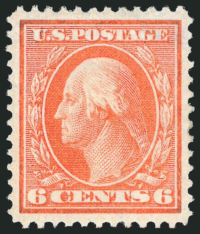 US Stamps Prices Scott Cat. 336: 1909 6c Washington. Robert Siegel Auction Galleries, Jun 2015, Sale 1100, Lot 80